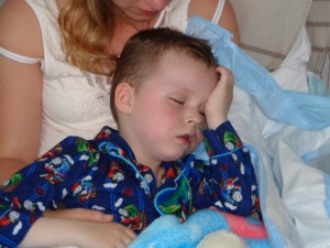 9 juni 2013 Jayden raakte weer bij bewustzijn...